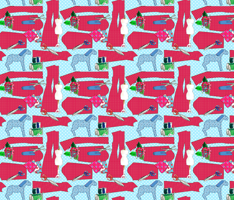 couture oh couture rouge L fabric by nadja_petremand on Spoonflower - custom fabric