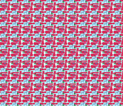 couture oh couture rouge S fabric by nadja_petremand on Spoonflower - custom fabric