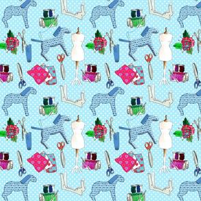 couture amour de couture bleu