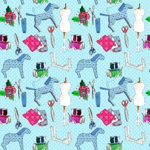 couture amour de couture bleu M