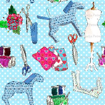 couture amour de couture bleu S