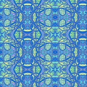 Zig Zag Art Nouveau Bold Paisley