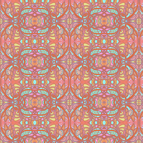 Tangled Orange Tendrils fabric by edsel2084 on Spoonflower - custom fabric