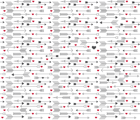 Shot through the Heart fabric by kfay on Spoonflower - custom fabric