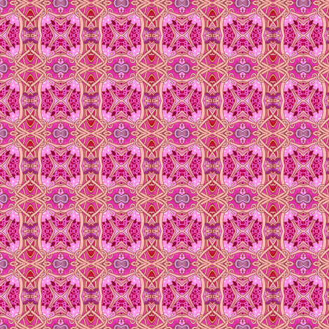 Small Gothic Blocks (pink) fabric by edsel2084 on Spoonflower - custom fabric