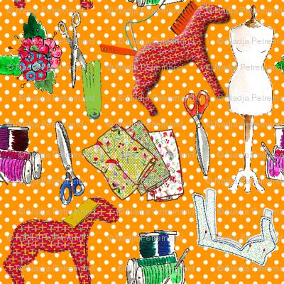 couture amour de couture orange M