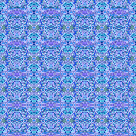 Crooked Blue Paths fabric by edsel2084 on Spoonflower - custom fabric