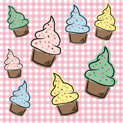 Stylised cupcakes