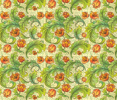 modern-morris fabric by julistyle on Spoonflower - custom fabric