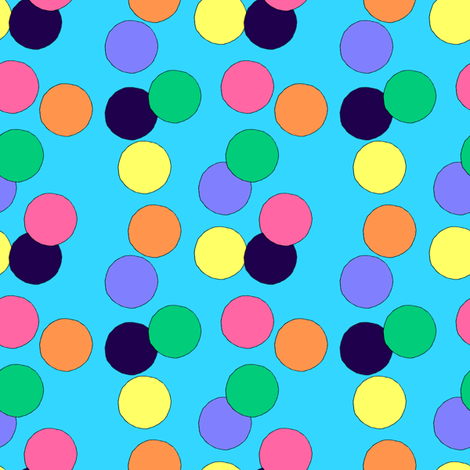 Big Dots (Light Blue) fabric by lavaguy on Spoonflower - custom fabric