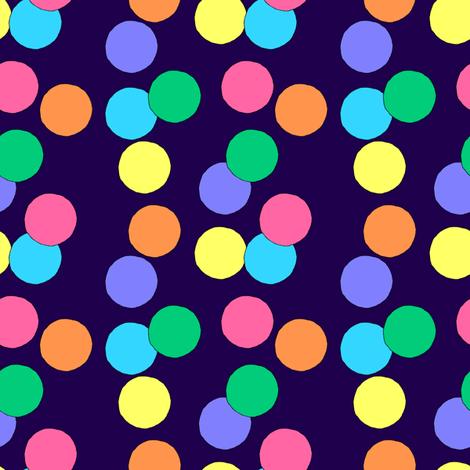 Big Dots (Dark Blue) fabric by lavaguy on Spoonflower - custom fabric