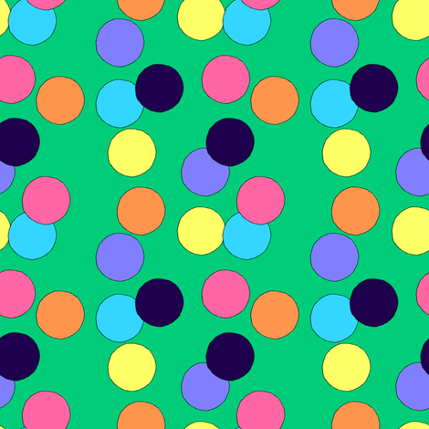 Big Dots (Green) fabric by lavaguy on Spoonflower - custom fabric