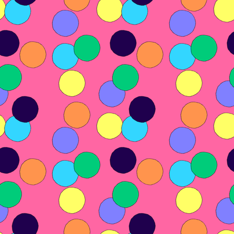 Big Dots (Pink) fabric by lavaguy on Spoonflower - custom fabric