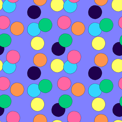 Big Dots (Violet) fabric by lavaguy on Spoonflower - custom fabric