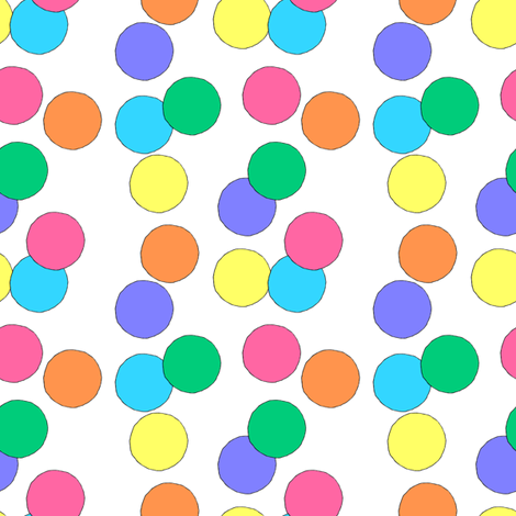 Big Dots (White) fabric by lavaguy on Spoonflower - custom fabric