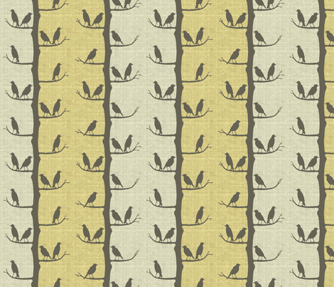 birds on a branch fabric by littlerhodydesign on Spoonflower - custom fabric