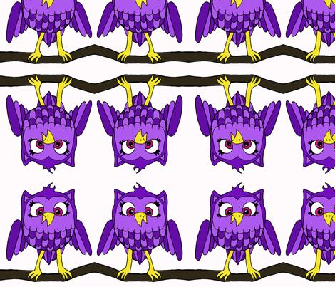 Purple Owl fabric by sharpestudiosdesigns on Spoonflower - custom fabric