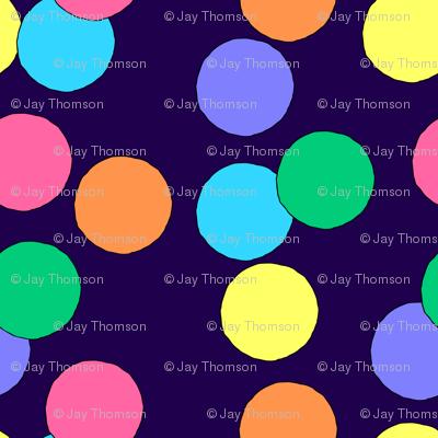 Really Big Dots (Dark Blue)