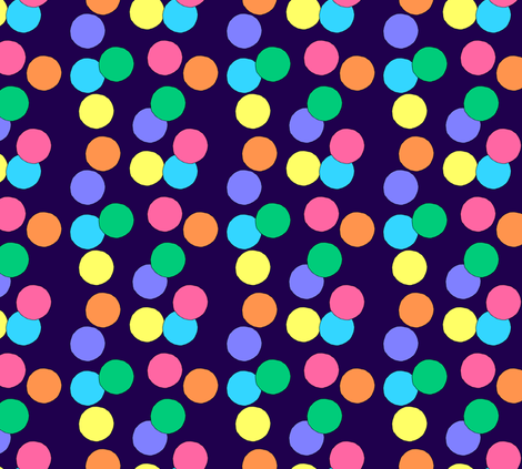 Really Big Dots (Dark Blue) fabric by lavaguy on Spoonflower - custom fabric