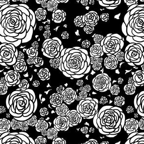 Black Deco Roses
