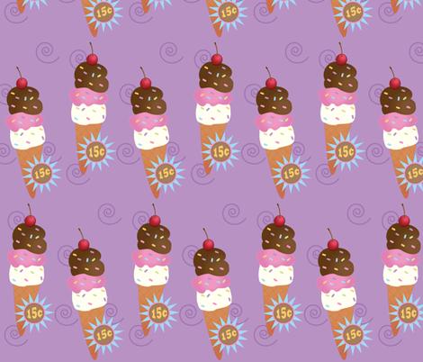 Large Ice Cream Cone Raspberry fabric by buzzellis on Spoonflower - custom fabric