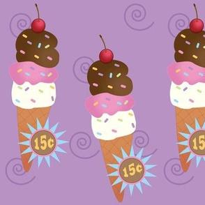 Large Ice Cream Cone Raspberry
