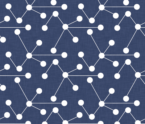 delft_molecules_large fabric by holli_zollinger on Spoonflower - custom fabric