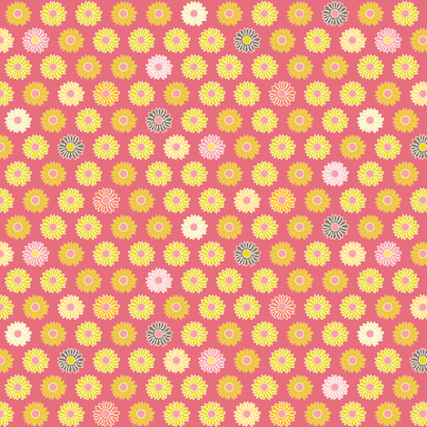 Little Blooms - pink fabric by kayajoy on Spoonflower - custom fabric