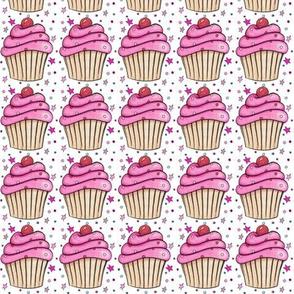 Pink Cupcake Fabric