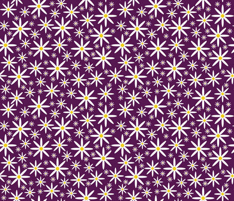 Field of Daisies-Purple fabric by jjtrends on Spoonflower - custom fabric