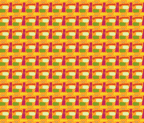 couture oh patron couture orange S fabric by nadja_petremand on Spoonflower - custom fabric