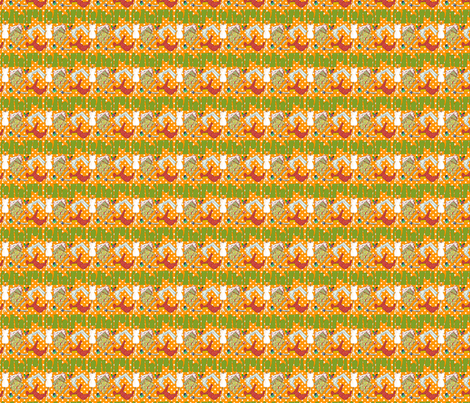 oh ma couture orange S fabric by nadja_petremand on Spoonflower - custom fabric
