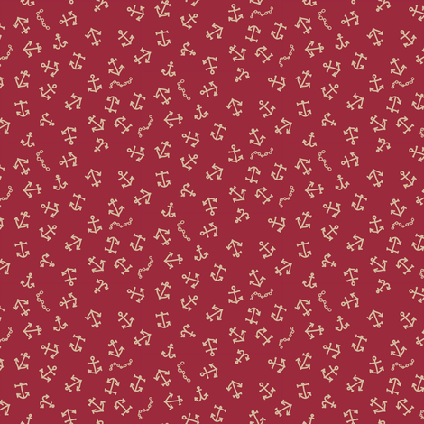 ditsy_anchors_red-01 fabric by owls on Spoonflower - custom fabric