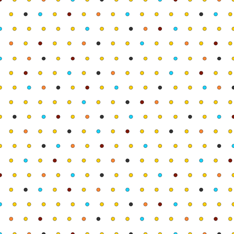 Little Dots (on white) fabric by lavaguy on Spoonflower - custom fabric