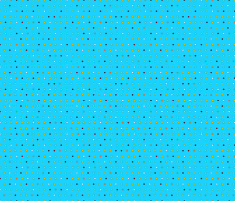 Little Dots (on blue) fabric by lavaguy on Spoonflower - custom fabric