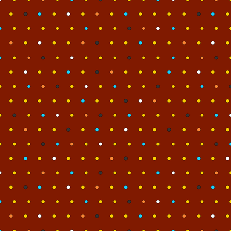 Little Dots (on brick red) fabric by lavaguy on Spoonflower - custom fabric