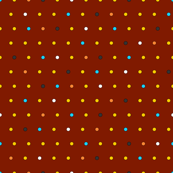 Little Dots (on brick red)