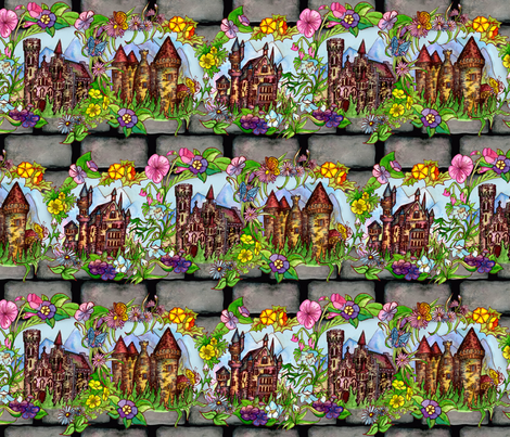Bavarian Castles fabric by poshcrustycouture on Spoonflower - custom fabric