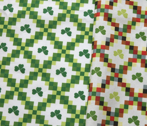 Shamrock and checkers