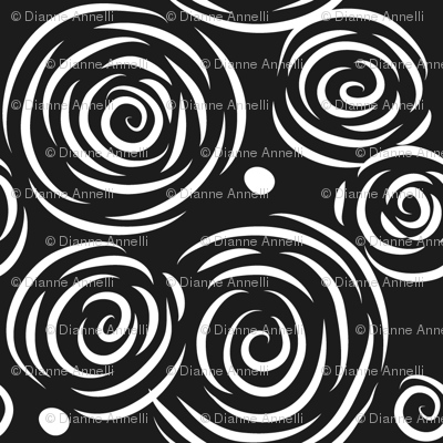 Swirls & Bubbles - Black