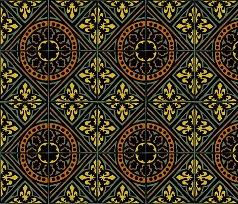 medieval tile  fabric by narthex on Spoonflower - custom fabric