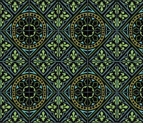 medieval GReeN fabric by narthex on Spoonflower - custom fabric