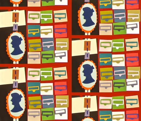 spinster librarian fabric by boristhumbkin on spoonflower