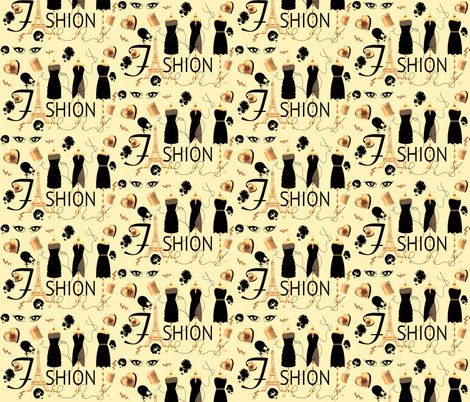 FASHION DESIGNER fabric by bluevelvet on Spoonflower - custom fabric