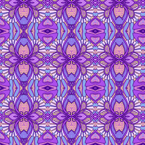 Art Deco Orchids fabric by edsel2084 on Spoonflower - custom fabric