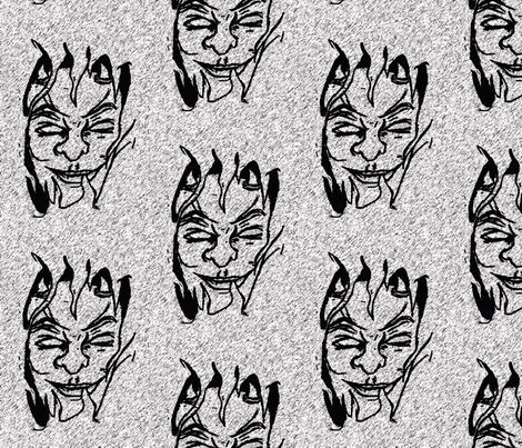 devilman fabric by sharpestudiosdesigns on Spoonflower - custom fabric
