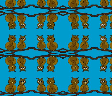 owlsssss2 fabric by sharpestudiosdesigns on Spoonflower - custom fabric