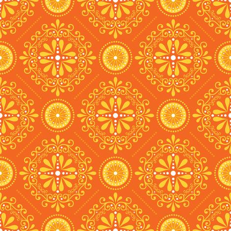 Solar Damask fabric by robyriker on Spoonflower - custom fabric