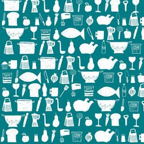patroon_keuken_digitaal_1_laag_turqouise_achtergrond