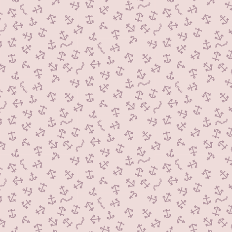ditsy_anchors_cream fabric by owls on Spoonflower - custom fabric